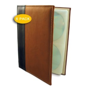 Bellagio Italia Brown Cd/ Dvd Storage Binder (Pack Of 6)