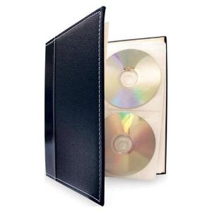 Bellagio Italia CD/DVD Storage Binders (6 Pack Black)